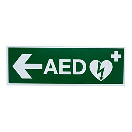 Pictogram AED pijl links (300 x 100 mm)